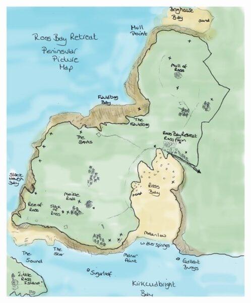 Ross Bay Peninsula map